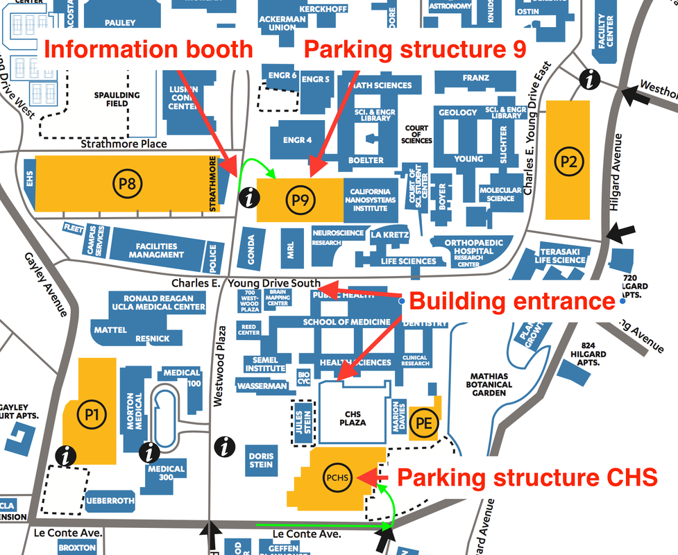ucla campus map parking Directions Accommodations Semel Institute For Neuroscience And