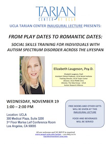 Laugeson Lecture Flyer